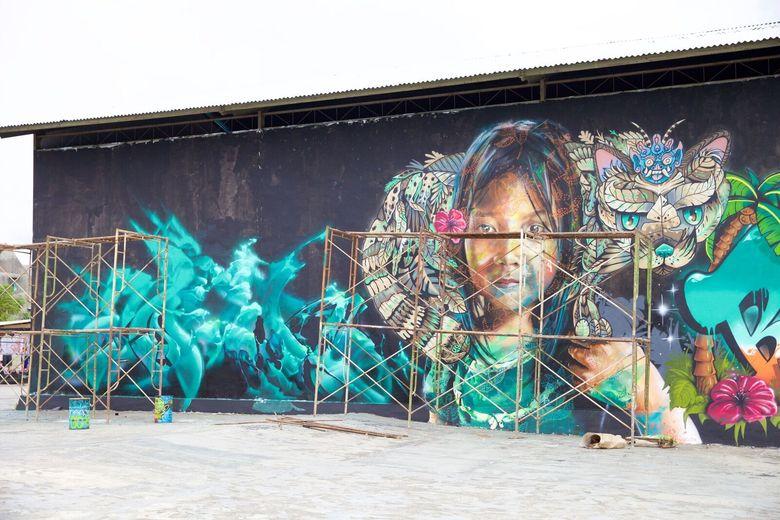 Tropica Festival 2017 menghadirkan 45 seniman grafiti dan mural. Foto: Istimewa