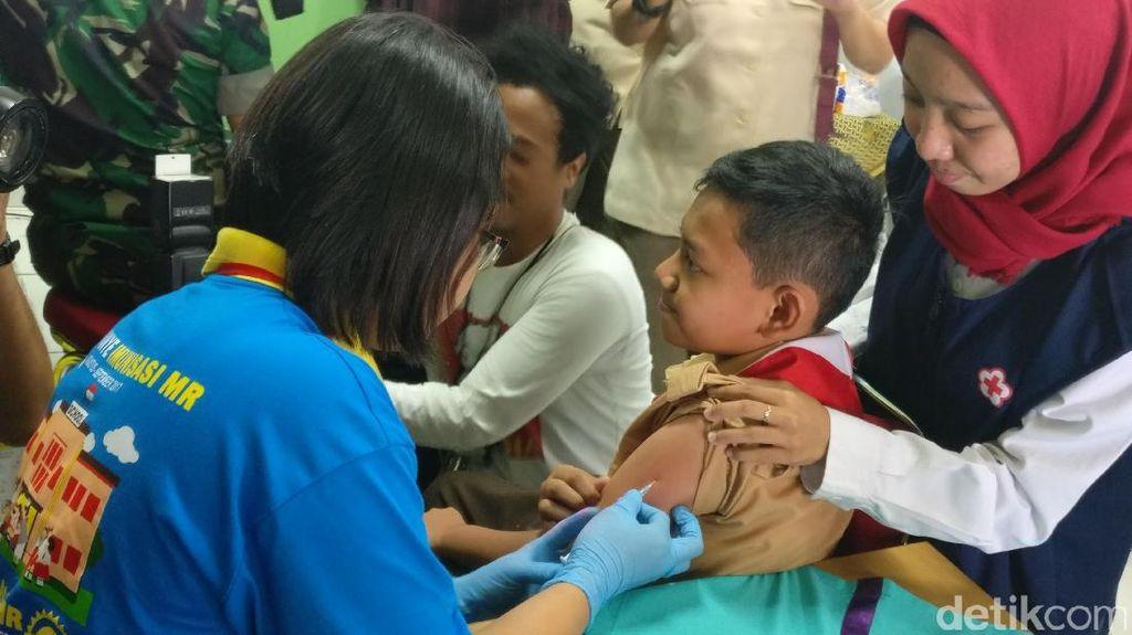 Pencapaian Imunisasi MR di Riau Baru 18, 47 Persen