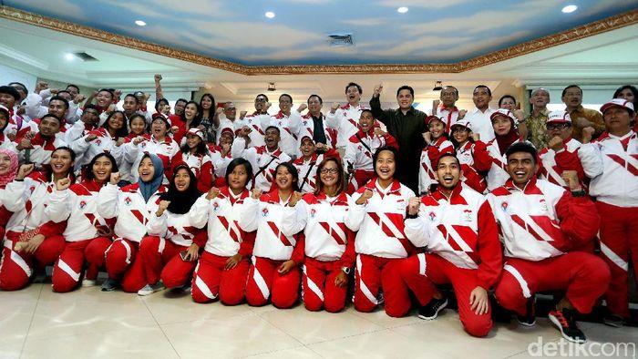 Kontingen Indonesia untuk SEA Games 2017 (Foto: Rengga Sancaya)
