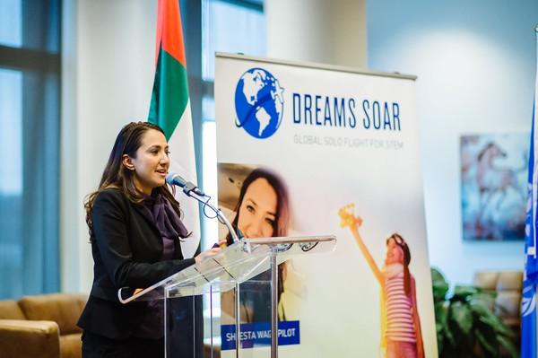 Tidak hanya berani dan inspiratif, Shaesta juga menjadi pendiri dari LSM Dreams Soar yang berfokus pada pemberian beasiswa internasional pada anak perempuan dan wanita (dok ICAO)