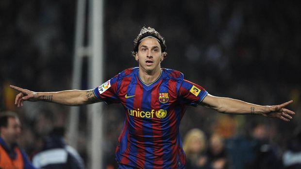 Zlatan Ibrahimovic hanya bermain semusim di Barcelona.