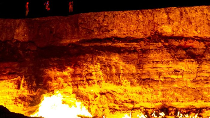Derweze gas craterthe, known as The Door to Hell, Turkmenistan