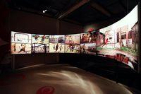 Video sepak bola ari berbagai belahan dunia yang bisa dilihat di dalam Football Museum (Museu do Futebol/Facebook)