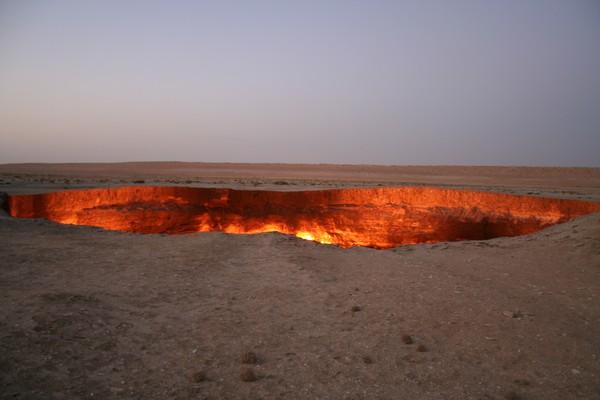 Tempat ini hanya 264 km atau 3 jam perjalanan dari Ibukota negara Turkmenistan, Ashgabat (Thinkstock)