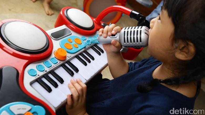 Tempat les musik di Jakarta/ Foto: Hassan/detikcom