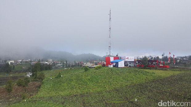BTS Combat Telkomsel di Ranu Pani