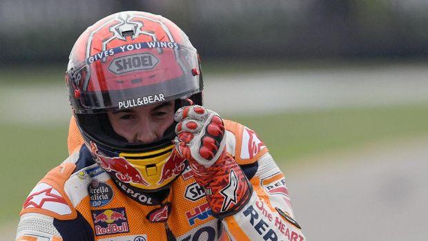Marc Marquez berhasil menang di GP San Marino usai mengalahkan Danilo Petrucci.