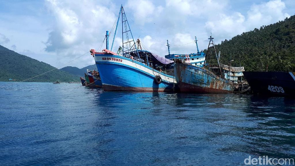 Foto: Terbaru, Penampakan Kapal Pencuri Ikan yang Ditangkap Susi