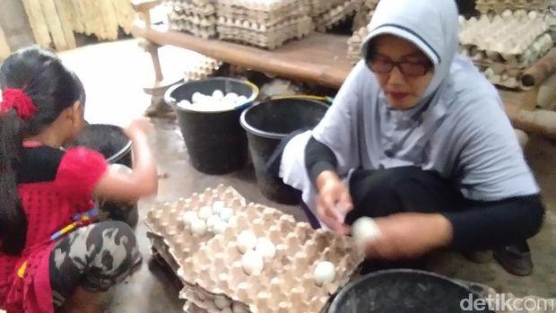 Pengusaha telur asin di Aceh keluhkan garam mahal dan langka