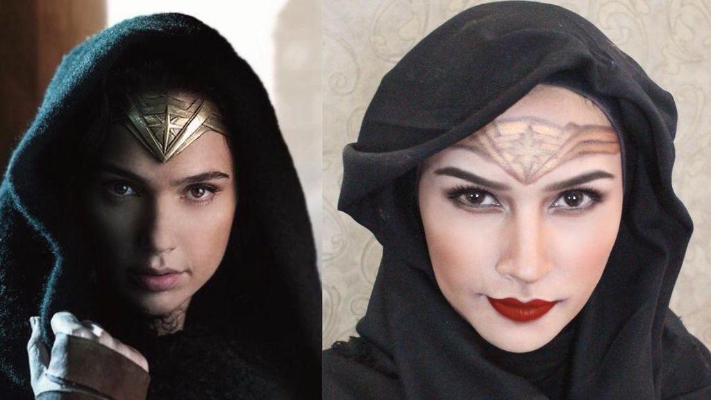 Dandan Ala Wonder Woman, Hijabers Bandung Disebut Gal Gadot-nya Indonesia