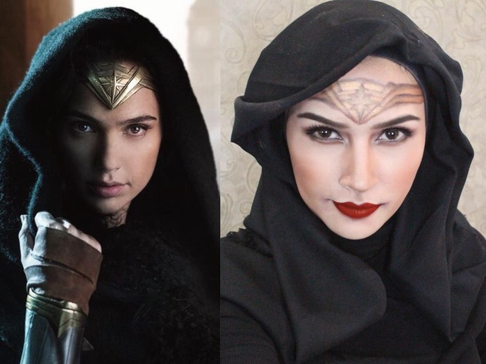 Angel Qulbiah mirip Gal Gadot di Wonder Woman. Foto: Dok. Instagram @angelqulbiah
