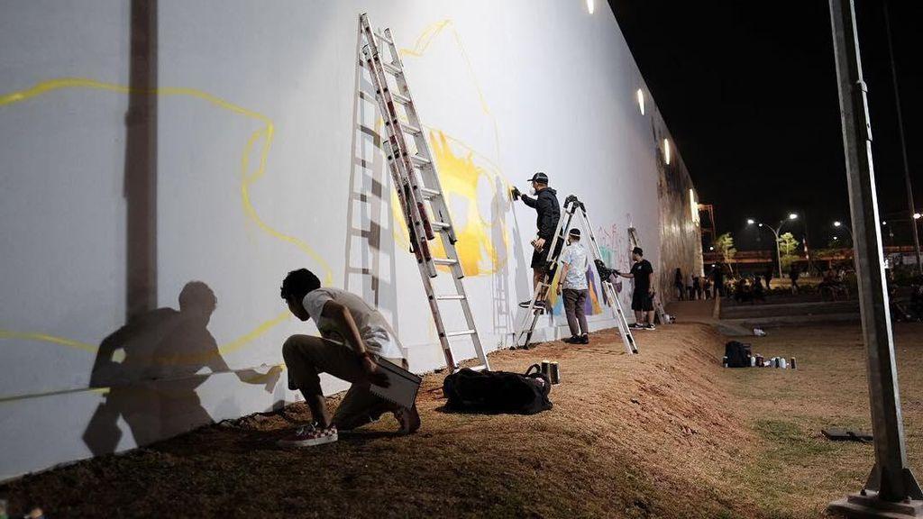 Lagi, RPTRA Kalijodo Dipercantik dengan Mural dan Grafiti