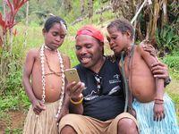Suku Moni di Ugimba, dekat dari Puncak Carstensz yang merupakan titik tertinggi di Indonesia (Afif Farhan/detikcom)