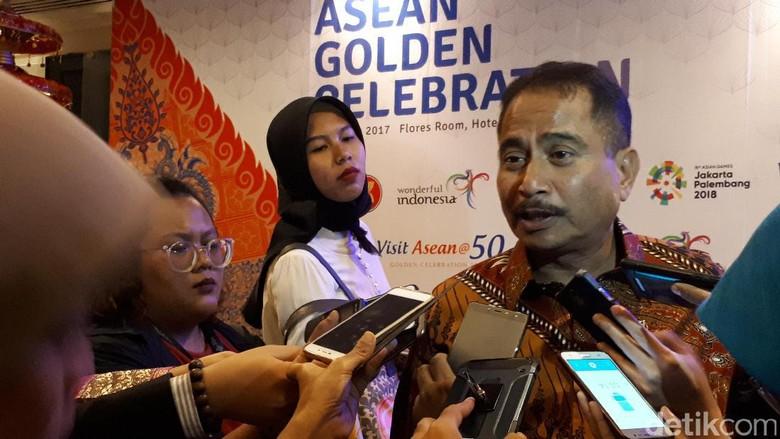 Menpar Arief Yahya di acara ASEANTA Awards 2017 (Randy/detikTravel)