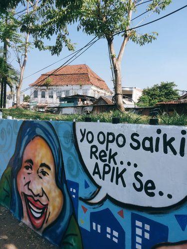 Salah satu mural bergambar Tri Rismaharini