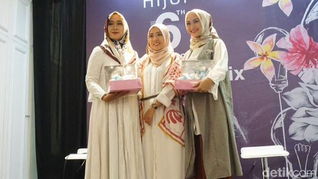 Para hijabers cantik dan inspiratif Indonesia di ulang tahun HijUp.