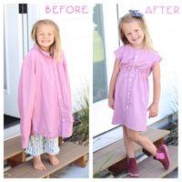 Hebat, Ibu Kreatif Sulap Baju Bekas Ayah Jadi Dress Cantik untuk Anak