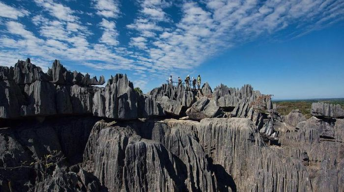 Taman Nasional Tsingy de Bemaraha di MadagaskarFoto: (Dave Stamboulis/BBC)