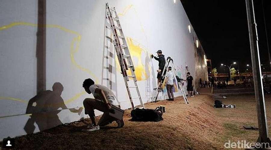 Kalijodo Bersolek Lagi dengan Mural