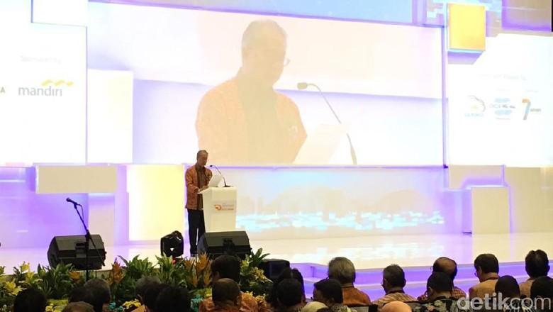Yohannes Nangoi menyampaikan sambutan di pembukaan GIIAS 2017 (Foto: Dina Rayanti)