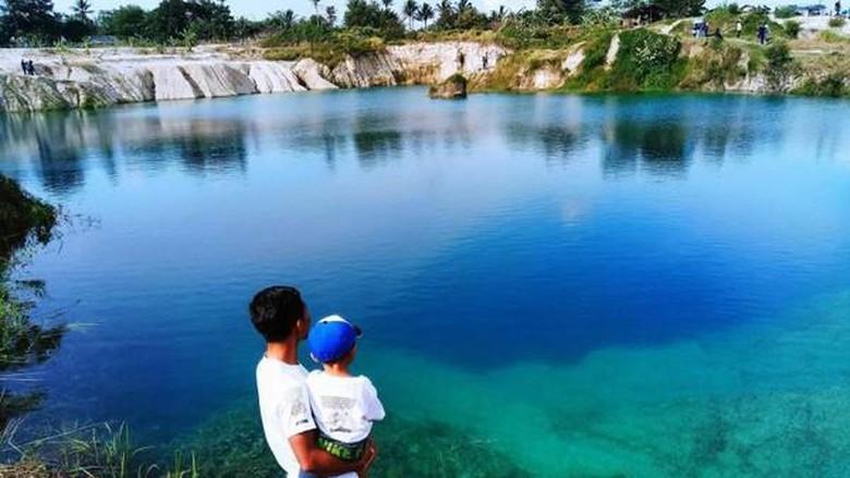 Danau Biru Cisoka di Tangerang (Bekti Yusti/dtraveler)