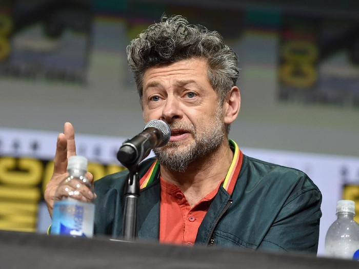 SAN DIEGO, CA - JULY 22:  Actor Andy Serkis from Marvel Studios' 'Black Panther at the San Diego Comic-Con International 2017 Marvel Studios Panel in Hall H on July 22, 2017 in San Diego, California.  (Photo by Alberto E. Rodriguez/Getty Images for Disney)
