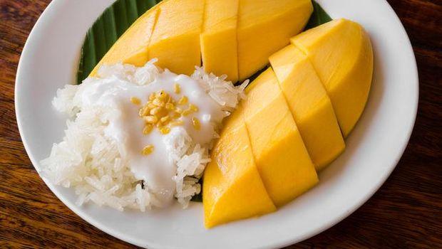 Ilustrasi mango sticky rice