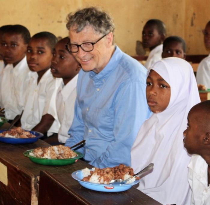 Bill Gates di Tanzania. Foto: Instagram