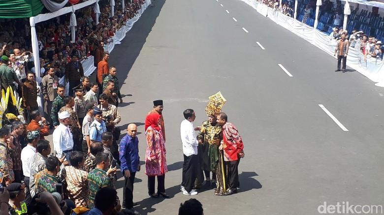 Jokowi dalam Jember Fashion Carnaval (Afif/detikTravel)