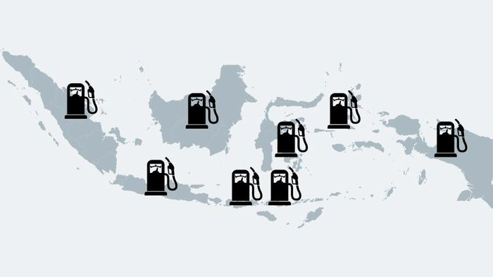 BBM Satu Harga (Foto: Mindra Purnomo/Infografis)