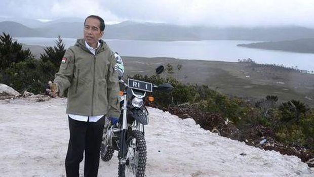 Jokowi di Wamena.