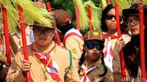 Ribuan Pelajar Berkebutuhan Khusus Ikuti Hari Pramuka di Sumedang
