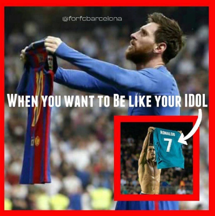 Meme Kocak Ronaldo Copy Paste Messi