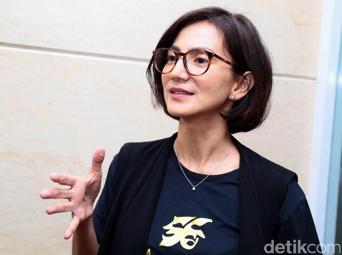 Wanda Hamidah saat ditemui di kawasan Gatot Subroto.