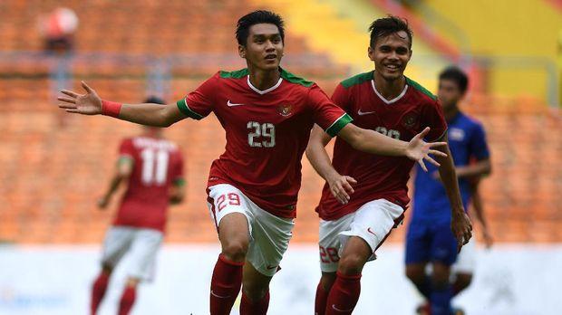 Septian David pernah mencetak gol penyeimbang saat Indonesia U-22 melawan Thailand.