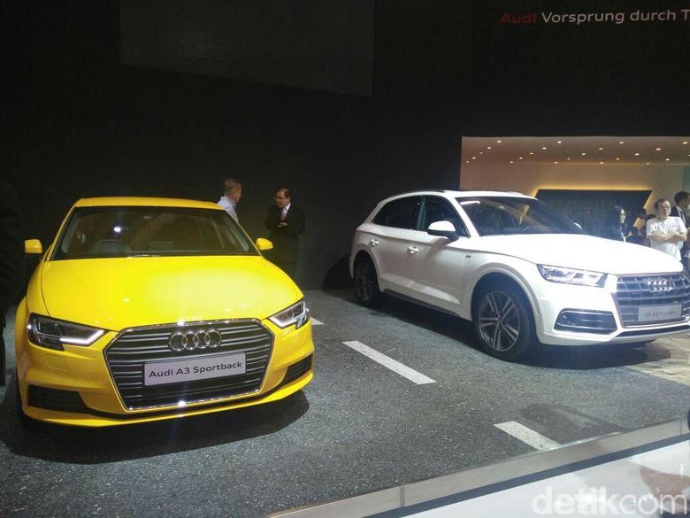 Audi A3 Sportback 1.2 TFSI dan Audi Q5 2.0 TFSI Quattro (Foto: Khairul Imam Ghozali)