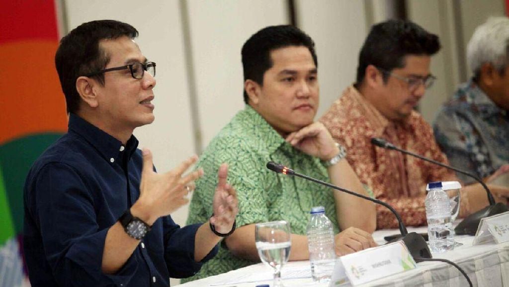 Atraksi 200 Drone di Langit Jakarta Saat Countdown Asian Games 2018