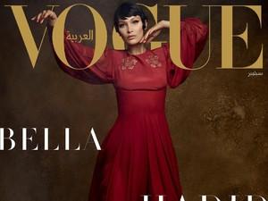 Biasa Tampil Seksi, Bella Hadid Pakai Busana Tertutup untuk Vogue Arabia