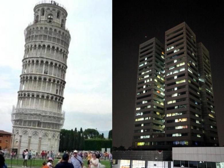 Menara Pisa Miring 4 Derajat, Benarkah Gedung DPR Miring 7 Derajat?