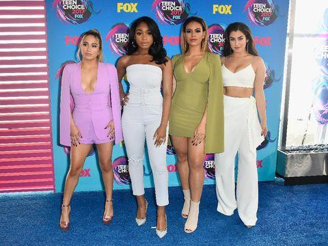 Fifth Harmony di karpet merah Teen Choice Awards 2017.