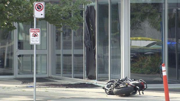 Foto kecelakaan stuntwoman di saat syuting 'Deadpool 2'.
