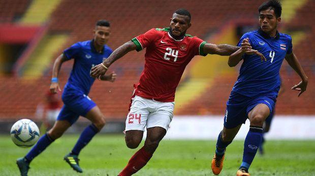 Marinus Wanewar jadi striker andalan Timnas Indonesia U-22. (