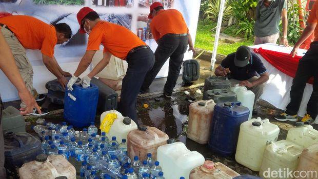 Pemusnahan narkoba dan alkohol di Mapolda Bali