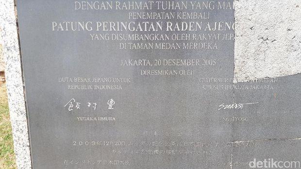 Tulisan Kanji di Patung RA Kartini, Apa Artinya?