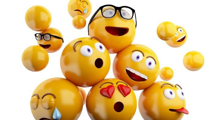 Berbagai ekspresi dalam emoji. Foto: Thinkstock
