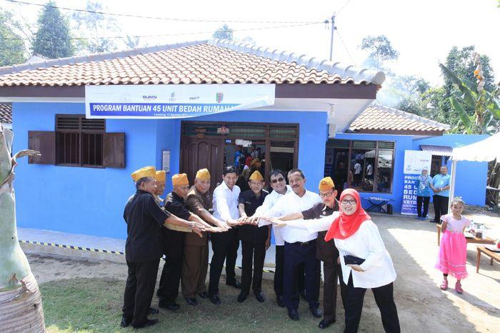 Foto: 45 Rumah Veteran di Lampung Direnovasi (Dok. PGN)