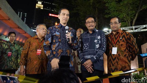 Peresmian Simpang Susun Semanggi oleh Presiden Jokowi bersama Djarot Saiful Hidayat