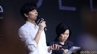Gong Yoo saat ditemui di Next TV Studio, Taipei, Taiwan pada Kamis (17/8).