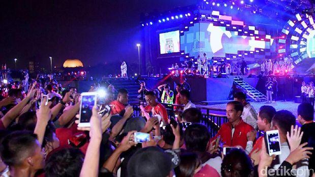 Jokowi di acara countdown Asian Games 2018.