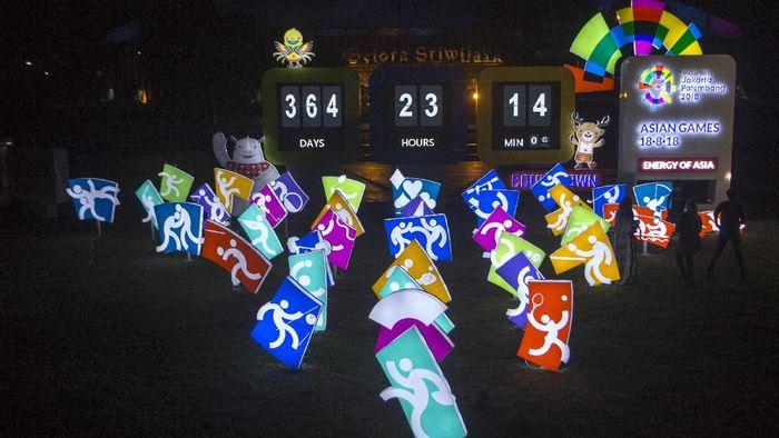 ilustrasi countdown Asian Games 2018 (Nova Wahyudi/Antara Foto)